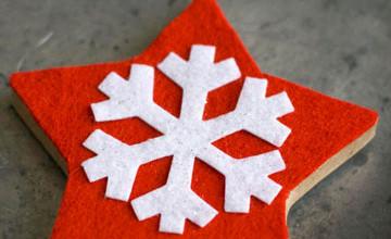 Новогодние украшения для дома из фетра