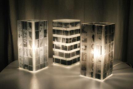 Декоративный светильник из ч/б пленки своими руками