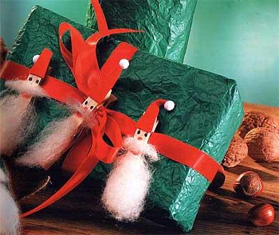 Рождественские прищепки-гномы