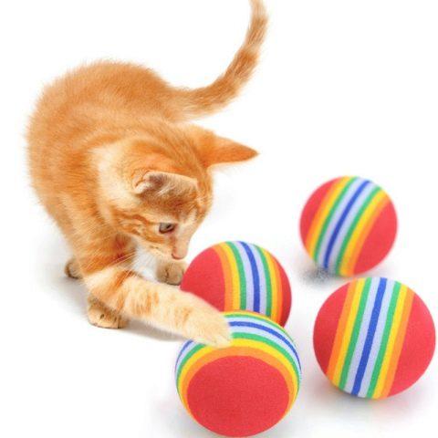 Игрушки-погремушки для любимцев кошек