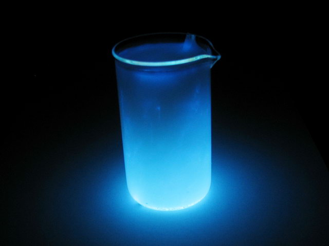 Как сделать светящуюся жидкость