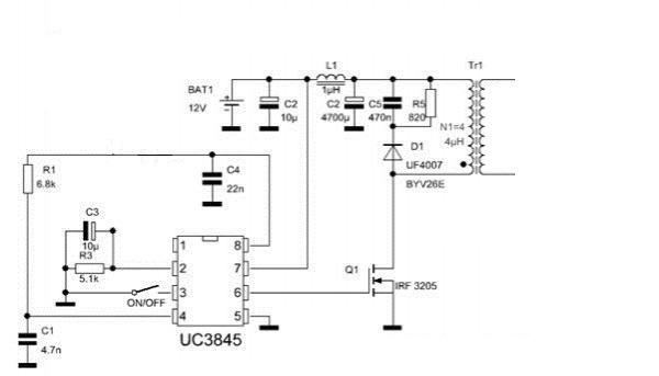Схема генератора высокого