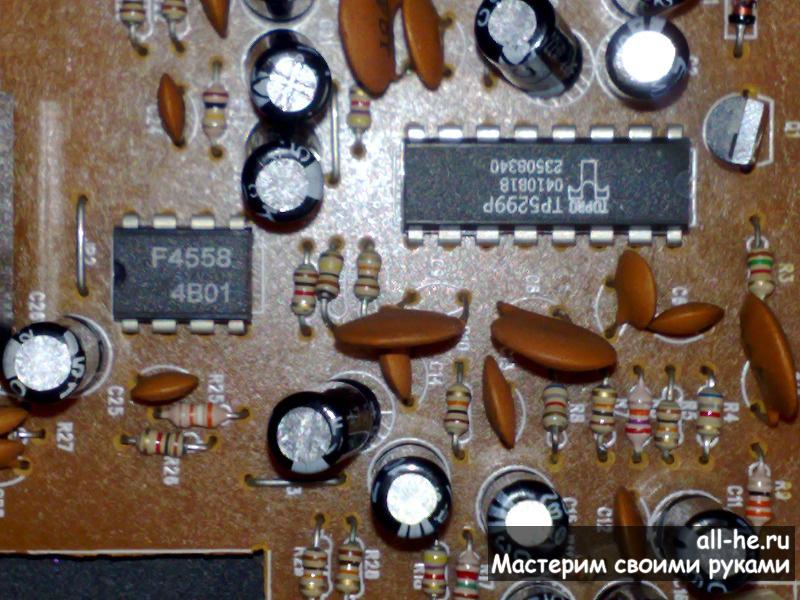 Простой микрофонный усилитель на ВА4558
