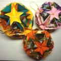 новогодних шары оригами