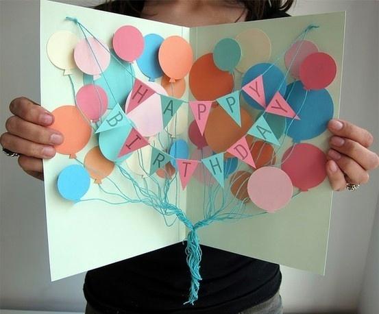 Открытка своими руками на день рождения мамы