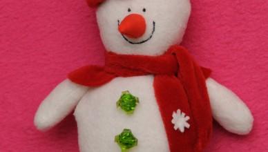 Тильда снеговик «Новогодний» своими руками