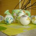 декупаж пасхальных яиц фото