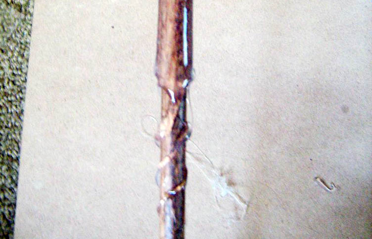 Рельеф палочки